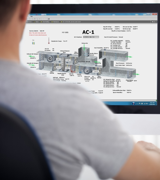 Man reviewing automation picture